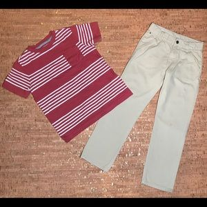 Tommy Hilfiger kids Sweatpants and Old Navy Shirt